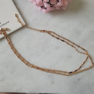 I.N.C. Gold-Tone Beaded Double Long Layer Necklace